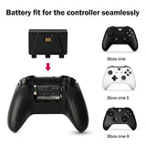 Xbox One Controller Charger, Dual Charging Station for Xbox One/One S/One X, Come with Two 1200 MAH Quality Rechargeable Batteries Pack for Xbox One Controller (Xbox one Charger with Battery)