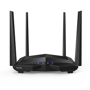 Tenda AC1200 Dual Band Smart WiFi Router, Wireless Internet Routers for Home, Parental Control, App Control&QOS, Gigabit Ethernet(AC10U), Black