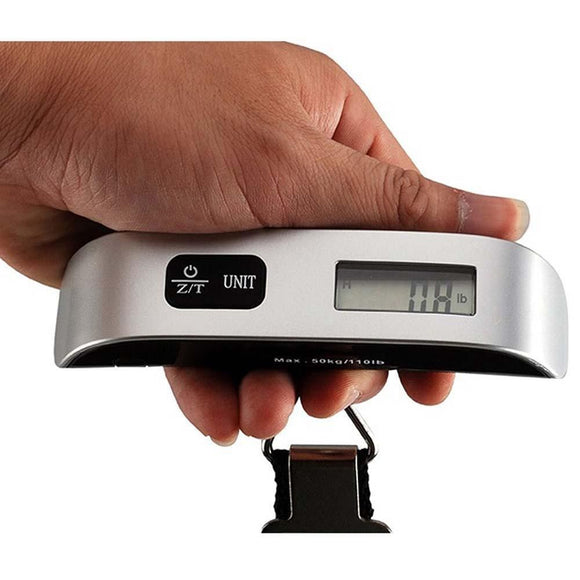 50kg x 10g Portable Hanging Scale Digital Electronic Luggage Suitcase Travel Bag Weight Scale Brand New(No Backlight) - reyes shop store