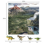 "Dinosaur Toys with Play Mat, 18 Pieces Educational Realistic Dinosaur Figures and 28.5"" x 28.5"" Playmat, Perfect Dinosaurs Playset Gift"