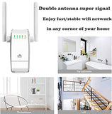 AMAKE WiFi Range Extender/ 300Mbps Mini WiFi Extender/360 Degree Full Coverage/Wireless Repeater/Internet Signal Booster with External Antennas