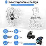Wireless Earbuds CASECUBE Bluetooth 5.0 Wireless Earbuds True Wireless Bluetooth Earphones Ipx7 Waterproof Wireless Headphones with Charging Case 60H Playtime for iOS and Android (Black)