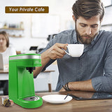 CHULUX Single Serve Coffee Maker with Removable Drip Tray,Green