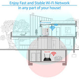 NEWEST 2018 WiFI Extender with WPS Internet Booster Signal Extenders Wireless Repeater 2.4GHz Band Up to 300 Mbps - Best Range Network Plug-In - 360 Degree Full Coverage - 33 ft range - reyes shop store