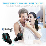 Bluetooth 5.0 True Wireless Earbuds, SUPOLOGY Sport in-Ear Headphones with Portable Charging Case, Sweat Proof 20H Playtime HD Bass Binaural Call Two Built-in Microphones