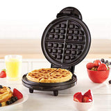 "Dash DEWM8100BK Express 8"" Waffle Maker Machine for Individual Servings, Paninis, Hash Browns + Other on The go Breakfast, Lunch, or Snacks, with Easy Clean, Non-Stick Sides, Black"