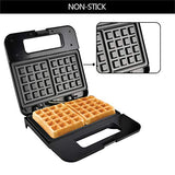 HOMEE Waffle Maker Classic Waffle Irons with Non-stick Plate and LED Indicator Light - Black