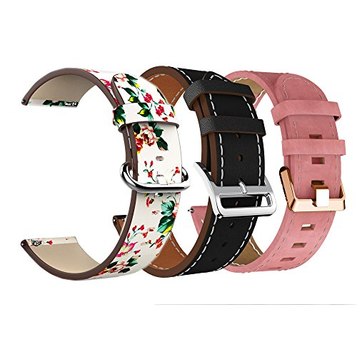 KisFace Fitbit Versa Replacement Leather Bands, Fitbit Accessories Wristbands Flower Print Series Strap for Fitbit Versa - reyes shop store