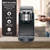 Mixpresso - Single Serve Coffee Maker | Compatible with K-Cups | Quick Brew Technology with Auto Shut-Off | One Touch Function | Programmable Features | Available in Dark Grey & Black Color