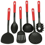 6 Piece Home Kitchen Sets Cooking Tools Nylon Spatula Spoon Forks Utensils Cookware Easy Hanging Kitchenware