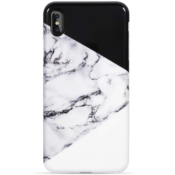 VIVIBIN iPhone Xs Max Case,Fashionable iPhone Xs Max Silicon Case Marble Black and White Design for Women Girls Men,Slim Fit Protective Phone Case for iPhone Xs Max 6.5 inch