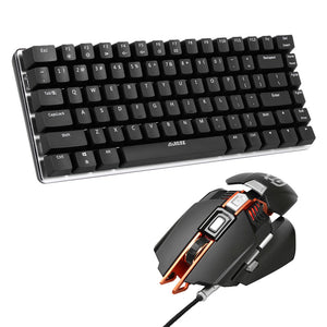 AJAZZ AK33 Computer PC Mechanical Keyboard Gaming backlight Keyboards USB +ajazz GTX 4000DPI LED Mouse Mice for LOL Overwatch - reyes shop store
