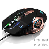 AOYEAH Led Backlit USB Wired Carble Adjustable DPI Ergonomic Optical 6 D Gaming Mouse Mice for Office Computer PC Souris Gamer - reyes shop store