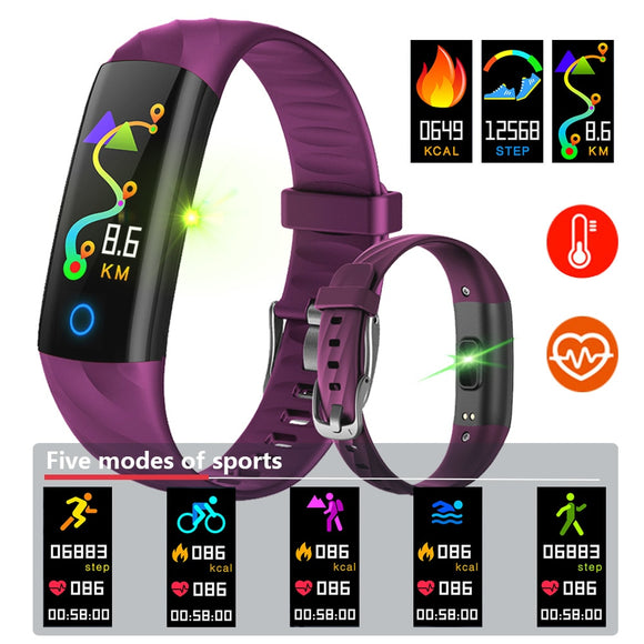 BINSSAW Smart Bracelet IP68 Oxygen Waterproof Pedometer Heart Rate Blood Monitor Fitness Tracker Band Multi Sport Smart Watch