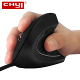 CHYI Wired Ergonomic Vertical Mouse With LED Light 3200DPI Optical Computer Mice USB Cable Gaming Muase Mouse Pad For Laptop PC - reyes shop store