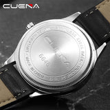 CUENA Fashion Quartz Watches Men Luxury Brand Waterproof Leather Strap Men's Wrist Watch Relogio Masculino Male Clocks Man 2018 - reyes shop store