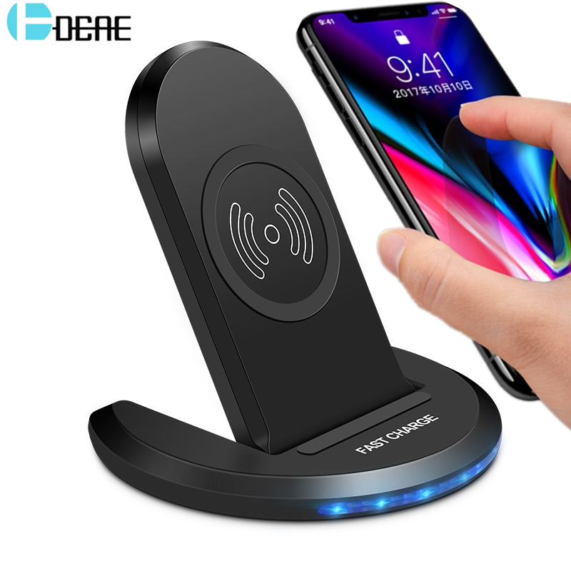 new arrivals 16998 8a345 DCAE 10W Qi Wireless Charger For iPhone X 10 8 Plus Fast Wireless Chargers  Adapter For Samsung Galaxy Note 8 S9 S8 Plus Charger