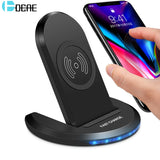 DCAE 10W Qi Wireless Charger For iPhone X 10 8 Plus Fast Wireless Chargers Adapter For Samsung Galaxy Note 8 S9 S8 Plus Charger - reyes shop store