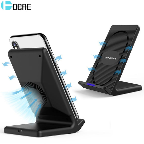DCAE 10W Qi Wireless Charger For iPhone X 8 Plus Fast Wireless Charging Holder For Samsung Galaxy S9 S8 S7 Note 8 Xiaomi Mix 2s - reyes shop store