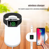 DCAE For iWatch 4 3 2 QI Wireless Charger For iPhone X 8 XS Max XR Quick 10W Fast Charging Pad For Apple Watch For Sumsang S9 S8