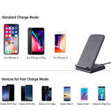 DCAE Leather Qi Wireless Charger For iPhone X 8 Plus Quick Charge Fast Wireless Charging Pad Car Holder Stand For Samsung S9 S8 - reyes shop store
