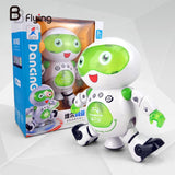 Electronic Dancing Robert 360 Degree Lovely Fun Lightening Gift Kids White+Green - reyes shop store