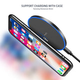 FLOVEME 10W Qi Wireless Charger For iPhone X 8 10 USB Fast Charger Wireless Charging Pad For Samsung Galaxy S9 S8 Plus Note 8 - reyes shop store