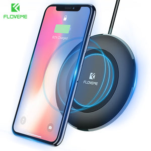 FLOVEME Qi Wireless Charger For iPhone X 8 Plus For Samsung Galaxy Note 8 S8 S9 Plus S7 S6 Edge Phone Charging Dock Accessories - reyes shop store