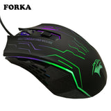 FORKA Silent Click USB Wired Gaming Mouse 6 Buttons 3200DPI Mute Optical Computer Game Mouse Mice for PC Laptop Notebook Gamer - reyes shop store