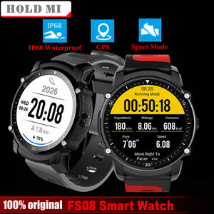 FS08 Smart Watch Men IP68 Waterproof GPS Sports Fitness Tracker Stopwatch Heart Rate Monitor Wristwatch Clock for Android IOS - reyes shop store