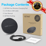 GETIHU 10W Qi Fast Wireless Charger For iPhone X 8 Samsung Note 8 S8 Plus S7 S6 Edge Phone Wireless Charging Charge Docking Dock - reyes shop store