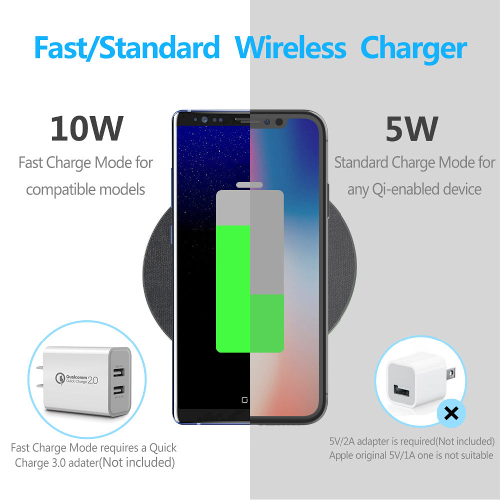 reputable site a38ef 1d009 GETIHU Qi Wireless Charger 10W Fast For iPhone 8 Plus X Wireless Charging  Pad For Samsung S8 Note 8 QC Wirless Charger for Phone