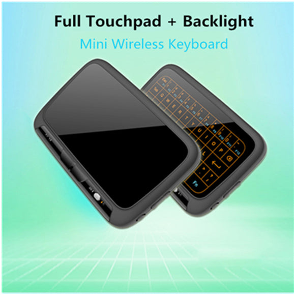 H18+2.4GHz mini wireless QWERTY keyboard Full Touchpad Keyboard Large Touch Pad Remote Control for Android TV Box PC Xbox3 PS4 - reyes shop store
