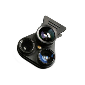 HD Cell Phone Lens Professional 2.5X Telephot 180 Degree Fisheye 0.62X Wide Angle 15X Macro CPL Camera Lenses Kit For Smartphone - reyes shop store