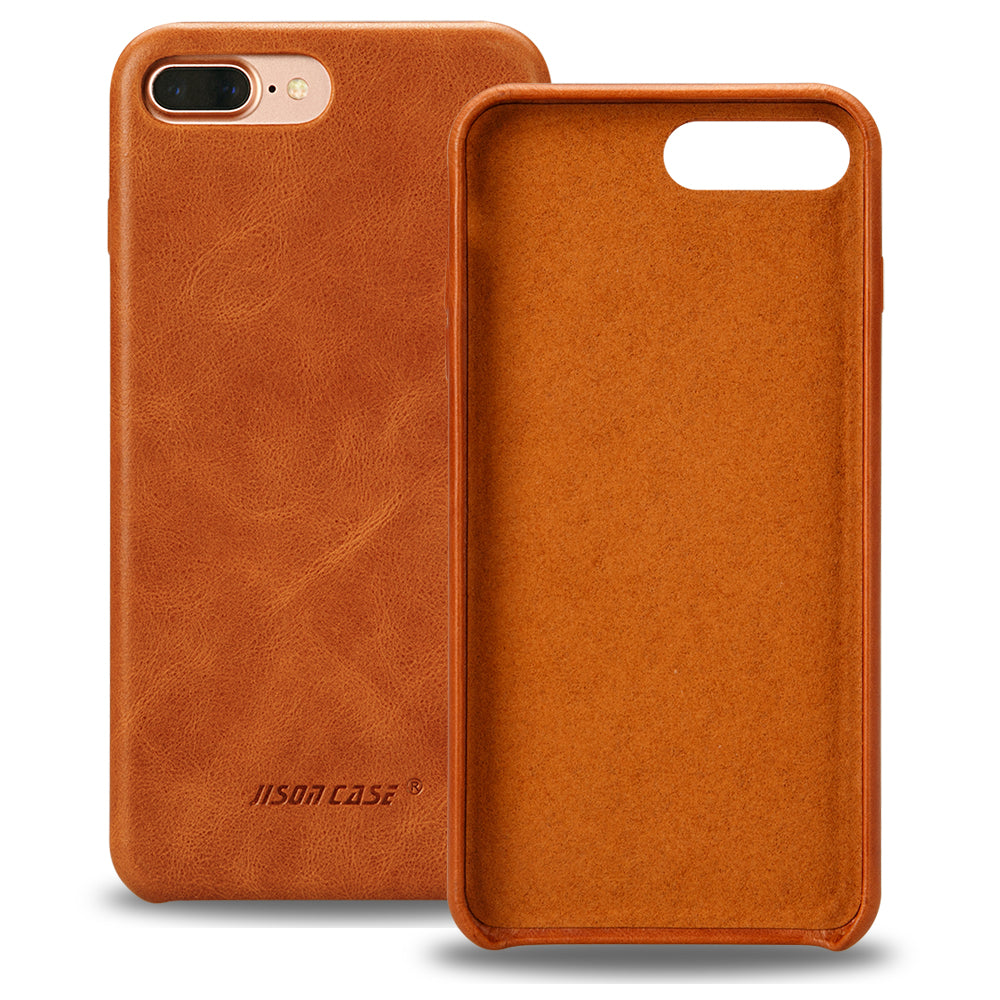 timeless design 8f3f2 62c8e Jisoncase Original Leather Case for iPhone 8 8 Plus Case Cover Genuine  Leather Luxury Slim Back Cover for iPhone 7 7 Plus Capas