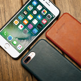 Jisoncase Original Leather Case for iPhone 8 8 Plus Case Cover Genuine Leather Luxury Slim Back Cover for iPhone 7 7 Plus Capas - reyes shop store