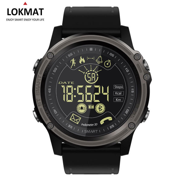LOKMAT Sport Smart Watch Pedometer Men's watches Waterproof IP68 Bluetooth Digital Clock SmartWatch For Ios Android Phone - reyes shop store