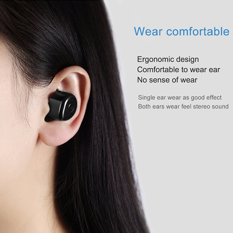 62e01ea4d85 ... M&J T1 2 Pcs Twins True Wireless Bluetooth Earphone Mini Invisible  Cordless Bluetooth CSR ...