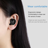 M&J T1 2 Pcs  Twins True Wireless Bluetooth Earphone Mini Invisible Cordless Bluetooth CSR 4.2 Earbud Anti-fall Headset with Mic - reyes shop store