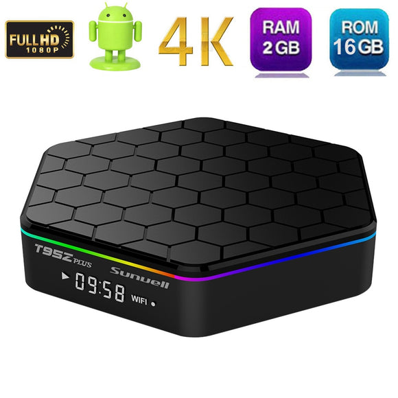 Original T95Z Plus 2GB 16GB 3GB 32GB Amlogic S912 Octa Core Android 7.1 OS Smart TV BOX 2.4G/5GHz WiFi BT4.0 4K pk mini m8s pro - reyes shop store