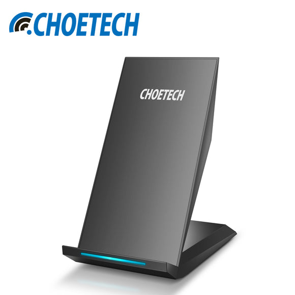 Qi Wireless Charger CHOETECH 10W 2 Coils Wireless Charger for Samsung Galaxy S8 Plus S7 S6 Note 5 Fast Wireless Charging Stand