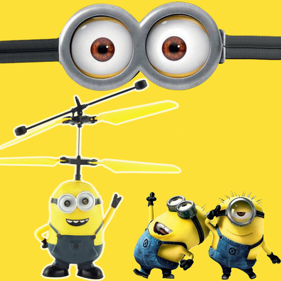 RC Helicopter Despicable Me3 Mini RC Quadcopter Drone Flying Induction Remote Control Aircraft Remote Control Toys For Boys