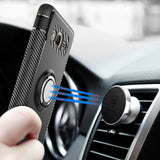 Ring Stand Case for Samsung Galaxy J2 prime Car Holder Stand Magnetic Suction Bracket Finger Ring TPU + PC Cover