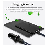 USB Car Charger Vpower Dual USB Charger Output 2.4A Fast Charging Cell Phone Car-Chargers Travel Adapter Cigar Lighter DC 12-24V