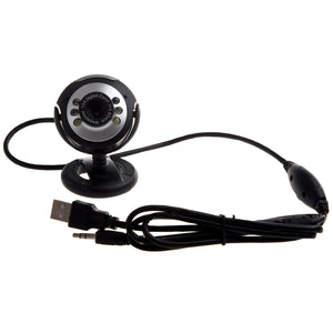 USB PC Webcams Web Camera 6 LED Night Vision MSN, ICQ, AIM, Skype, Net Meeting - reyes shop store