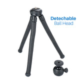 Ulanzi Mini Octopus Tripod Flexible Phone Tripod with Detachable Ballhead Phone Clip for iPhone Samsung DSLR Camera Smooth Q DJI