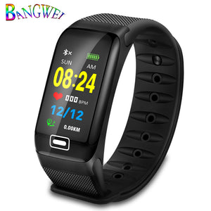 WISHDOIT Smart Sport Watch New Waterproof Watch Blood Pressure Heart Rate Detection Pedometer for ios Android Fitness Watch +Box