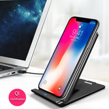 iCan Qi Wireless Charger For iPhone 8/8Plus/X QC3.0 10W Fast Wireless Foldable Charging for Samsung S9/S8/S8+/S7Edge Charger Pad - reyes shop store