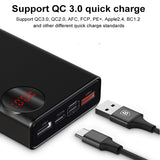 Baseus 20000mAh Power Bank USB C PD Quick Charge 3.0 20000 Poverbank For Xiaomi mi 9 Portable External Battery Charger Powerbank