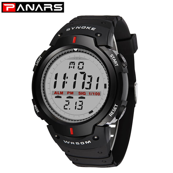 PANARS Men's Watch 30M Waterproof Electronic LED Digital Watch Men Outdoor Mens Sports Wrist Watches Stopwatch Relojes Hombre